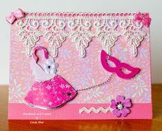 Girlie card -Handmade and created by Linda Muir