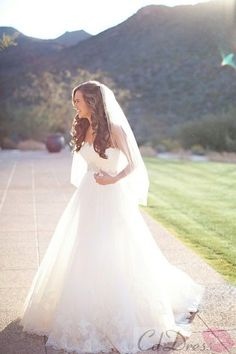 Pretty A Line Strapless Tulle Lace Wedding Dress - Wedding Dresses - Weddings - CDdress.uk