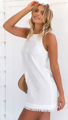 Still Fields Dress (White)