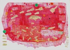"Saatchi Art Artist Indre Ercmonaite; Drawing, ""Paint Flood"" #art"