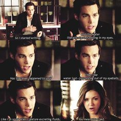 Chris wood and nina dobrev. this scene was one of my favorite kai moments! he is so funny. Vampire Diaries Stefan, Vampire Diaries The Originals, Vampire Diaries Wallpaper, Vampire Diaries Quotes, Vampire Diaries Cast, Stefan Salvatore, Serie Vampire, Vampire Daries, Tvd Quotes