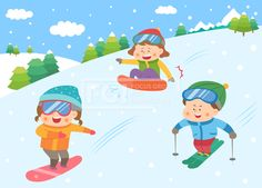 SILL163, 겨울방학, 벡터, 에프지아이, 사람, 캐릭터, 어린이, 생활, 라이프, 친구, 교육, 가족, 겨울, 방학, 남자, 여자, 3인… Art Therapy, Art For Kids, Pikachu, Kindergarten, Clip Art, Animation, Drawings, Disney, Winter