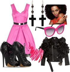 Bad Ass in Pink, created by desiree-harness on Polyvore