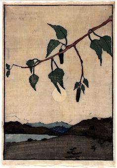 Bror Julius Olsson Nordfeldt (American, born Sweden, 1878-1955), Moonrise, 1906. Color woodcut on paper. Smithsonian American Art Museum, Washington, D.C.