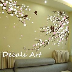 Cherry Blossom Branches with Birds  Vinyl wall by DecalsArt, $62.00