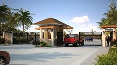 tropical resort front gate entrances - Google Search