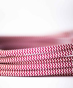 Vintage Fabric Electric Cable - Red&White - William&Watson