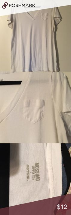 Plus size V-neck T-shirt Mossimo. Plus size 1. White. V-neck T-shirt. Mossimo Supply Co Tops Tees - Short Sleeve
