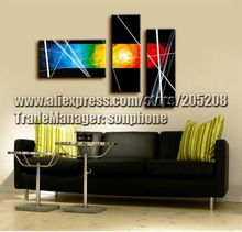 Framed 3 Panel Huge Abstract Oil Painting 3 Panel Canvas Art Deco XD00043(Hong Kong)