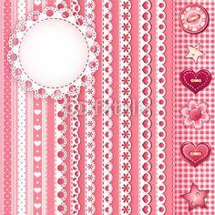 Pink borders