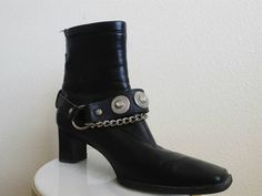 This silver embellished boot strap is that simple piece that will instantly change any outfit you pair it with. Genuine leather harness has
