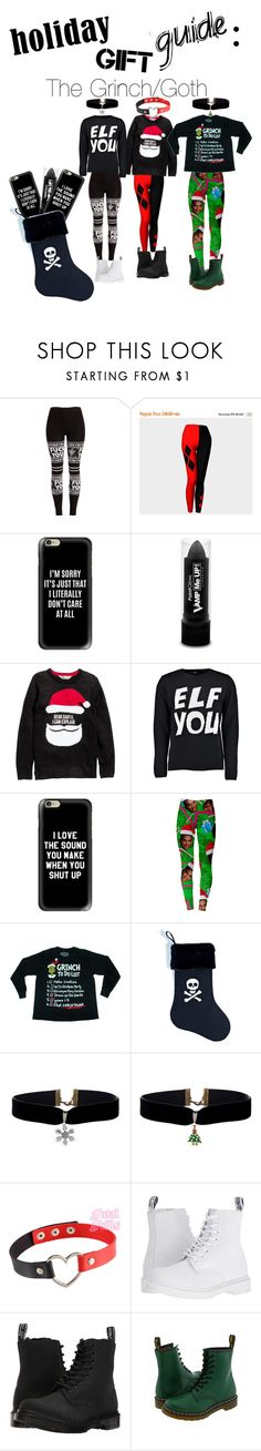"""The Grinch Gift Guide~"" by redhot6013 ❤ liked on Polyvore featuring Casetify, PaintGlow and Dr. Martens"