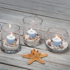 Simple round glass votive holders can make a large statement when grouped together at weddings and other events! Elegant holders allow the candlelight to take center stage to set a romantic and warm a