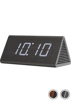 MADE Triangle Digital Alarm Clock & Bluetooth Speaker, Black. Express delivery. Walnut. Odette Clocks Collection from MADE.COM...