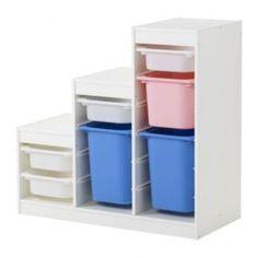 se vende combinacin almacenaje blanco multicolor ikea segunda mano serie trofast los cajones