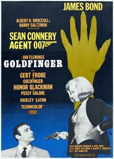 "Movie poster, ""Goldfinger"", (1964), starring Sean Connery"