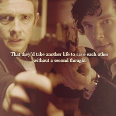 Theirs is a most remarkable friendship. I often wonder if they are a substitute for the family they'd longed for. John's not in a great place with Harry and we all know how Sherlock and Mycroft are.