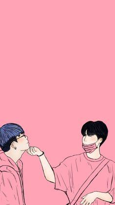 Double b fan art Chanwoo Ikon, Hanbin, Ikon Wallpaper, Wallpaper Backgrounds, Winner Kpop, Flower Road, Ikon Kpop, Double B, Gay Comics