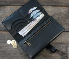Клатч мужской из натуральной кожи (MIDI) – купить или заказать в интернет-магазине на Ярмарке Мастеров | Стильный брутальный клатч-кошелек из толстой кожи…