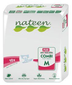 Voici le  Nateen Combi Plus Medium que vous trouverez au meilleur prix sur www.senup.com.     https://www.senup.com/nateen-combi-plus-medium-change-complet-incontinence-3999.html     Langepour adultesNateen Combi Plus Medium    Tour de taille : 95 à 125 cm.  Absorption : >2450 ml.  Conditionnement : 10changes-complets.  Pour hommes et pour femmes.  Pour uneincontinence moyenne.