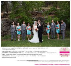 Lauren & Jason's featured real wedding is live on www.realweddingsmag.com! Read their love story, see their photos and meet their entire wedding vendor dream team on the blog NOW!  {Photos by Amy Nicole Photography, held at Auburn Valley Golf Club, groom/groomsmen's attire from De La Rosa's Bridal, cake from Whole Foods Market and linen rentals from Celebrations! Party Rentals and Tents}