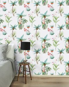 Dit behang is van Creative Lab Amsterdam. #wallpaper #flamingo #tropical #tropisch #palmtree #palmboom #behang #wanddecoratie #wall #bedroom #nature #creativelabamsterdam #amsterdam #dutch #dutchdesign #design #interior #interiordesign #home #homeinspiration #style #interiorlover #stylingidblog Creative Labs, Free Coloring, Your Space, Feature Walls, Tapestry, Curtains, Bedroom, Amsterdam, Charlotte