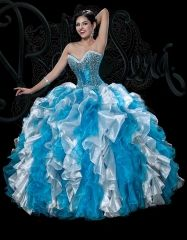 New 2016 turquoise and white sweet 15 ball gown fully beaded and sequined organza quinceanera dress BS-1530T http://www.topdesignbridal.net/new-2016-turquoise-and-white-sweet-15-ball-gown-fully-beaded-and-sequined-organza-quinceanera-dress-bs-1530t_p4248.html