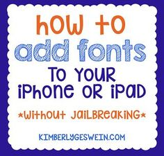 Add Fonts to Your iPad/iPhone for Word/Pages/Keynote/Excel/Powerpoint... | Kimberly Geswein fonts with {heart} | Bloglovin'