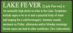 Lake Fever Sign