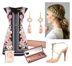"""""""Pink and romantic"""" by sookton on Polyvore featuring Oasis, Giuseppe Zanotti, Urban Decay and NSR Nina Runsdorf"""