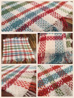 Tartan blanket goes modern for baby girl! Crocheted with love...