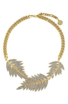 Louise et Cie Feather Frontal Necklace available at #Nordstrom