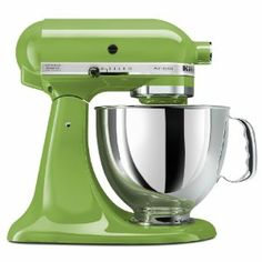 Green Apple colored KitchenAid 5-Qt. Love this appliance, would love it MORE in this color .