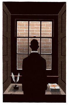 """Bartleby the Scrivener"" (2012) by Bill Bragg. Illustration for the Folio Society edition of ""The Complete Shorter Fiction"" (2012) by Herman Melville."