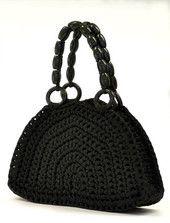 PAULA-laukku, musta / mustat kahvat | Tuulia design. Iloa & Ideaa askarteluun ja käsitöihin!