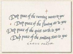 Gaelic prayer calligraphy