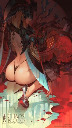 Chaos Blood血翼, Yan Gisuka on ArtStation at https://www.artstation.com/artwork/vme6E