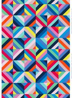 Tilkkutäkki-kangas (multicolor) |Fabrics, Cottons | Marimekko