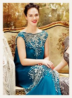 Find images and videos about downton abbey, jessica brown findlay and sybil crawley on We Heart It - the app to get lost in what you love. Downton Abbey Costumes, Downton Abbey Fashion, Jessica Brown Findlay, Beautiful Evening Gowns, Beautiful Dresses, Gorgeous Dress, Sybil Downton, Carolina Herrera, Lady Sybil