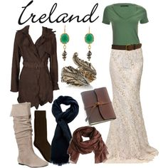Second set in Ireland packing list. Based on an old old plan. - Bri (b-scottyer on Polyvore)