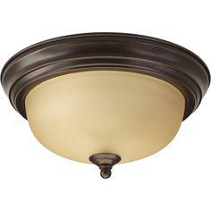 Progress Lighting 1-Light Antique Bronze Flushmount