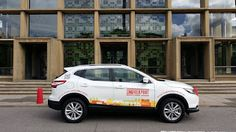 The Green I Signs Blog: Nissan courtesy car graphics for Lingfield Point f...