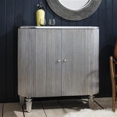 ACHICA | Jeeves Drinks Cabinet, Silver
