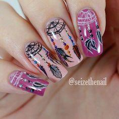 Boho Dream Catcher Nail Designs Art 22