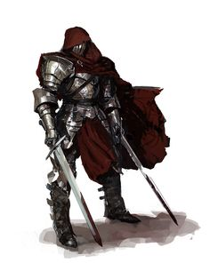 Knight Doodle - a high-fantasy digital painting of a knight by VilleK on CGhub