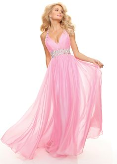 New 2013d Paparazzi by Mori Lee 93043 pink halter prom dresses available at RissyRoos.com.