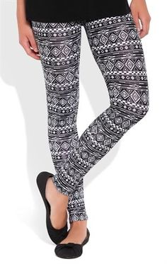 Deb Shops Legging with Tribal Print $12.00