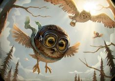 Digital Painting Inspiration Vol. Owl Pictures, Pictures To Draw, Desenho New School, Art Quotidien, Funny Owls, Art Et Illustration, Owl Art, Art Portfolio, Creature Design