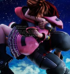 You're safe now by Emy-san on DeviantArt Kingdom Hearts 3 Kairi, Kingdom Hearts Quotes, Kingdom Hearts Fanart, Sora And Kairi, Kh 3, Kindom Hearts, Shall We Date, Heart Wallpaper, It Goes On