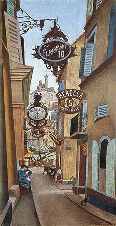 Rue de la Reynarde, Marseilles, France - Edward Wadsworth